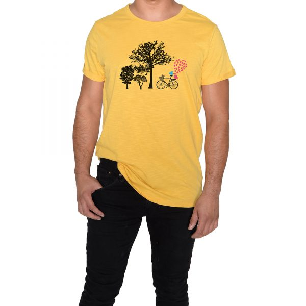 Love bring us Together Man Yellow T-Shirt