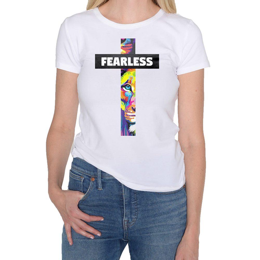 Fearless Woman White T-Shirt