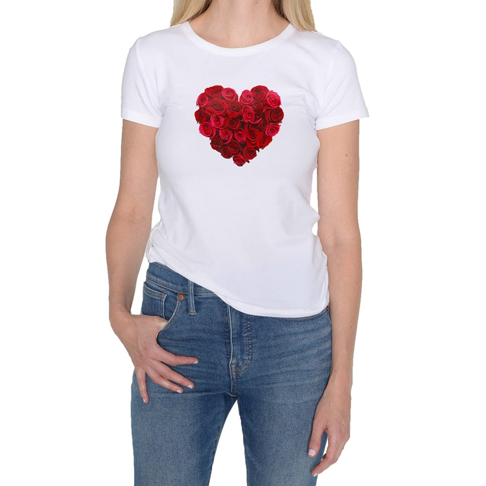 Heart of Flower White T-Shirt