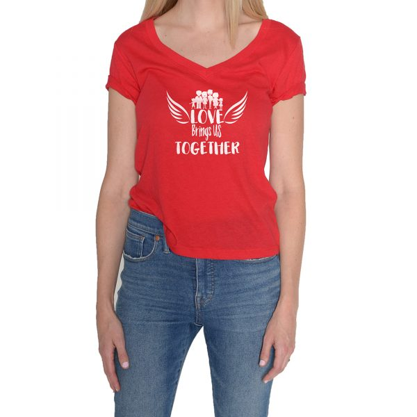 Love bring us Together Woman Red T-Shirt