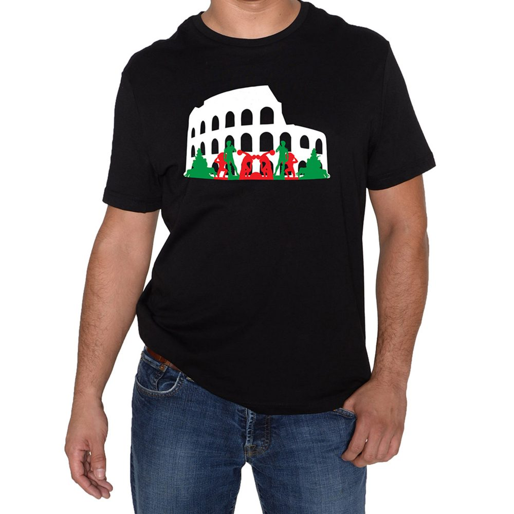 The Roman Colosseum Black T-Shirt