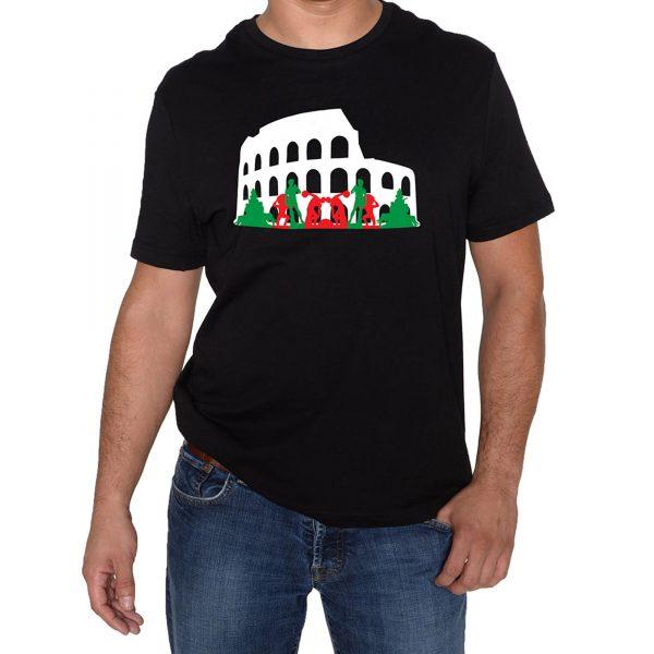 The Roman Colosseum Black T-Shirt